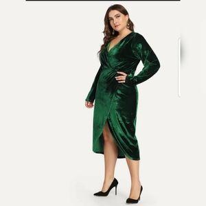 Shein Velvet Midi Dress
